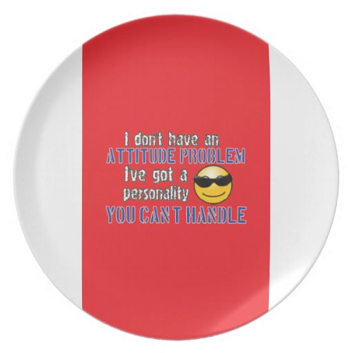 I don't have an attitude problem. I've got a perso Dinner Plates