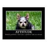 I don't have an attitude problem postcard