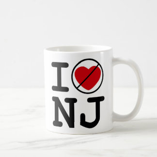 I Don't Heart New Jersey Coffee Mug