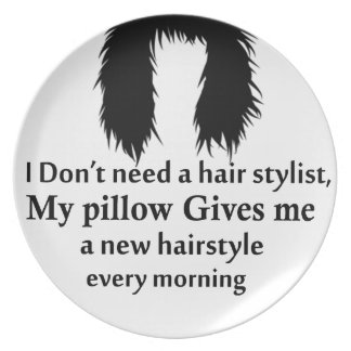I don't need a hair stylist, my pillow gives me a dinner plate