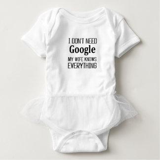 I Don't Need Google Baby Bodysuit