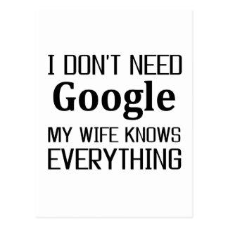 I Don't Need Google Postcard