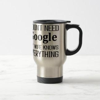 I Don't Need Google Travel Mug