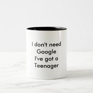 I don't need google Two-Tone mug