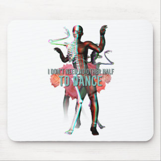 I Don't Need No Other Side Skull Skeleton Mouse Pad