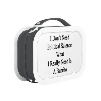 I Don't Need Political Science What I Really Need Lunchboxes