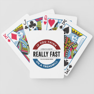 I Don't Run Bicycle Playing Cards