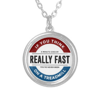 I Don't Run Silver Plated Necklace