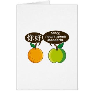 I Don't Speak Mandarin Card