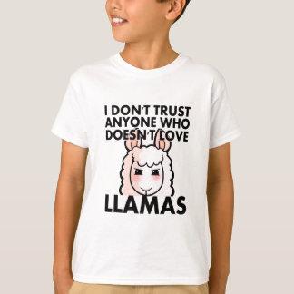 I Don't Trust Anyone Who Doesn't Love Llamas T-Shirt