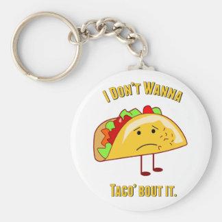 I Don't Wanna Taco' Bout It Basic Round Button Key Ring