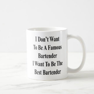 I Don't Want To Be A Famous Bartender I Want To Be Coffee Mug