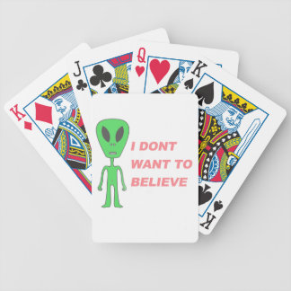 I Don't Want to Believe Poker Deck