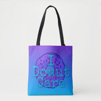 I Donut Care All-Over-Print Tote Bag