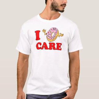 I Donut Care Cartoon Doughnut T-Shirt