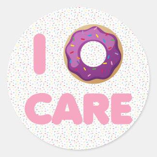 I Donut Care Classic Round Sticker