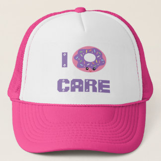 I donut care cute kawaii doughnut pun emoji trucker hat