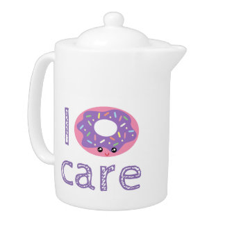 I donut care cute kawaii doughnut pun humor emoji