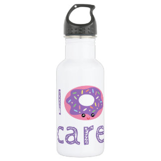 I donut care cute kawaii doughnut pun humor emoji 532 ml water bottle