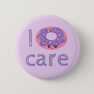 I donut care cute kawaii doughnut pun humor emoji 6 cm round badge