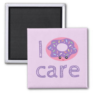 I donut care cute kawaii doughnut pun humor emoji magnet