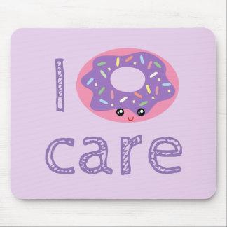 I donut care cute kawaii funny doughnut pun humor mouse pad