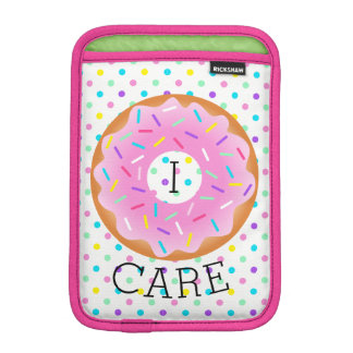 I Donut Care Dot Stripes Sprinkle Mini iPad Sleeve