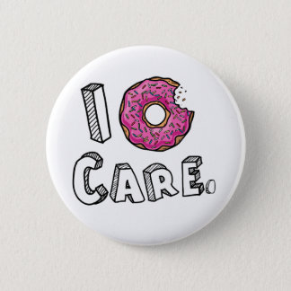 I Donut Care Funny 6 Cm Round Badge