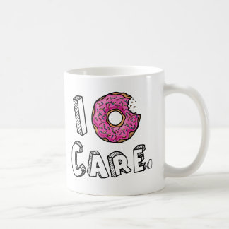 I Donut Care Funny Basic White Mug