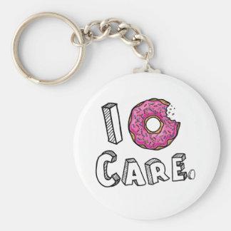 I Donut Care Funny Key Ring