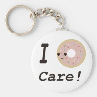 I donut care! key ring