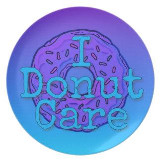 I Donut Care Melamine Plate
