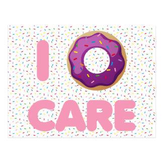 I Donut Care Postcard