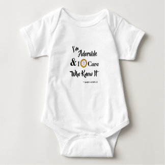 I donut care who knows it baby bodysuit