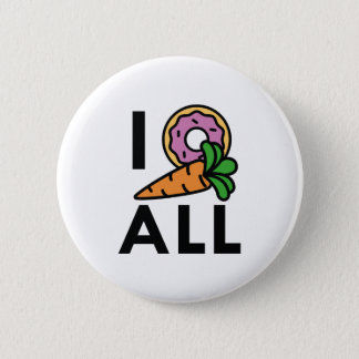 I Donut Carrot All 6 Cm Round Badge