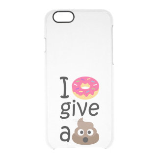 I donut give a poop emoji clear iPhone 6/6S case