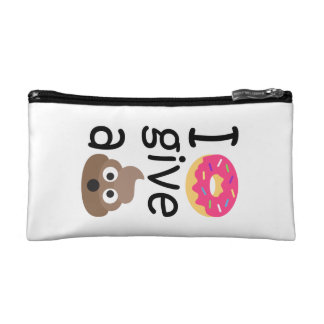 I donut give a poop emoji cosmetic bag