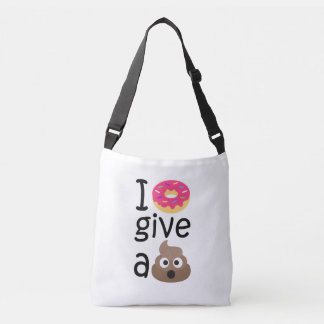I donut give a poop emoji crossbody bag