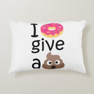 I donut give a poop emoji decorative cushion