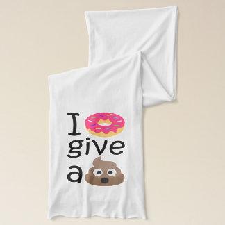 I donut give a poop emoji scarf