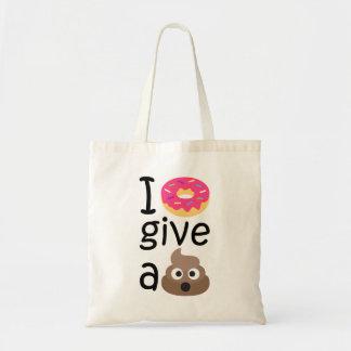 I donut give a poop emoji tote bag