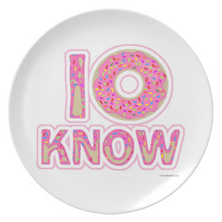 I Donut Know Plate