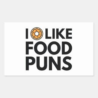 I Donut Like Food Puns Rectangular Sticker