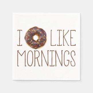 I Donut Like Mornings Paper Napkins Disposable Serviette