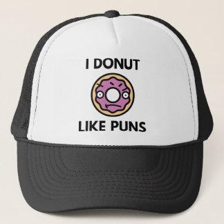 I Donut Like Puns Trucker Hat