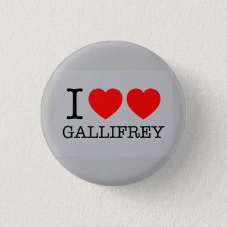 I Double Heart Gallifrey 3 Cm Round Badge