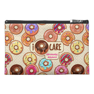 I Doughnut Care Cute Funny Donut Sweet Treats Love Travel Accessory Bag