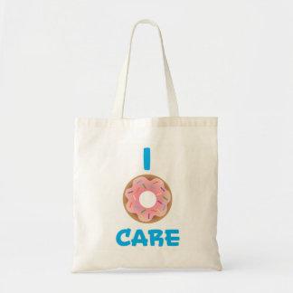 I Doughnut Care Emoji Pun Tote Bag
