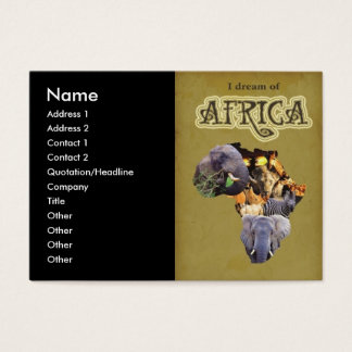 I Dream of Africa Business Card