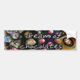 i dream of chocolates bumper sticker